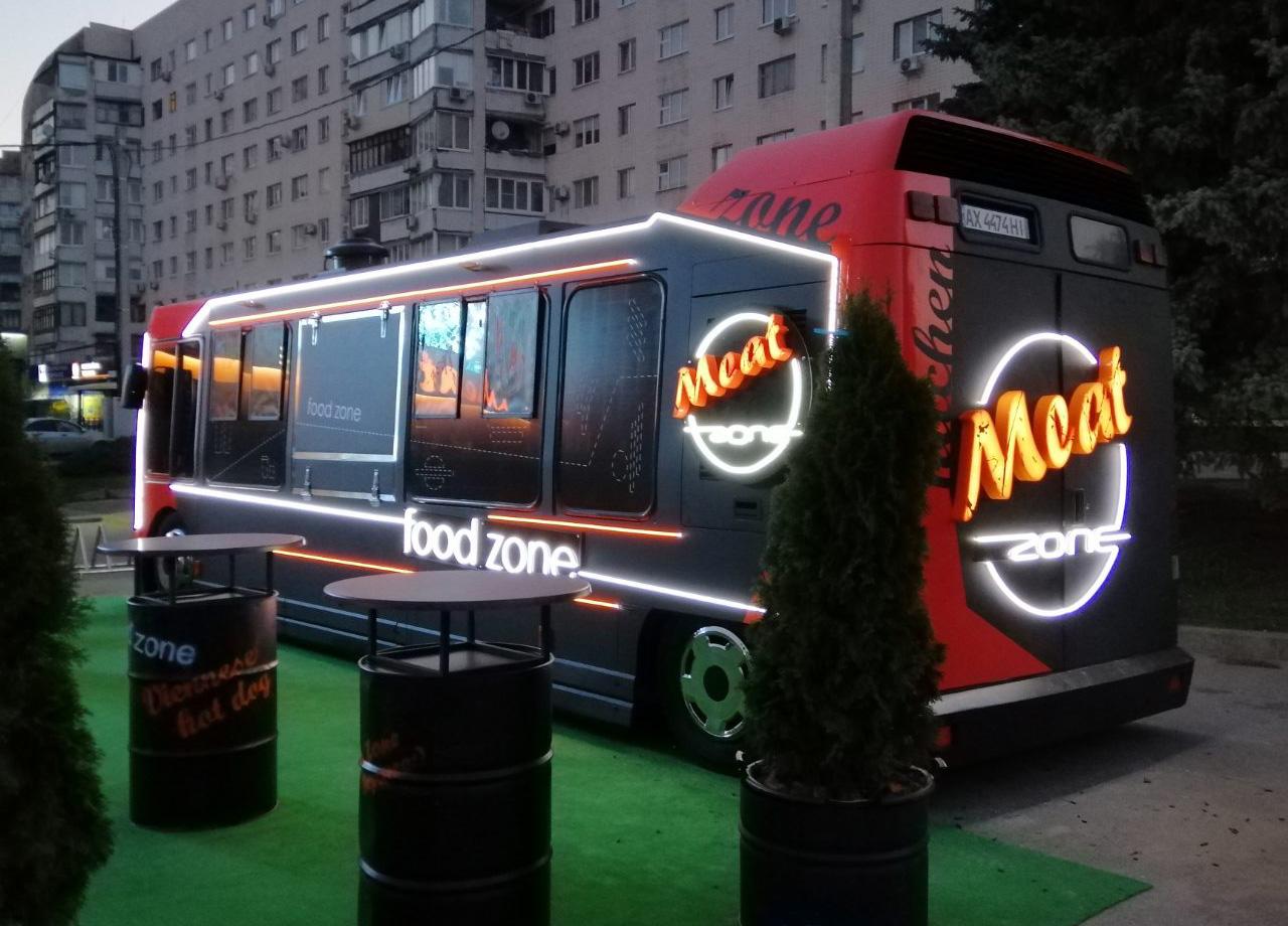 Брендирование автобуса для MeatZone