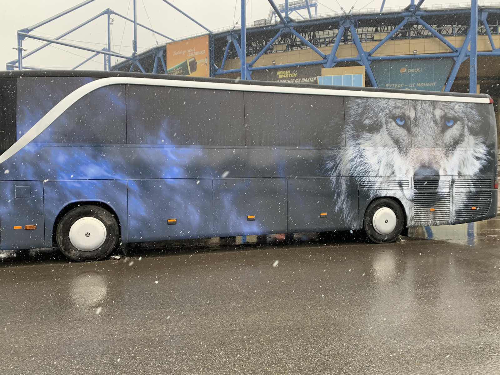 Обклейка автобуса для футбольного клуба