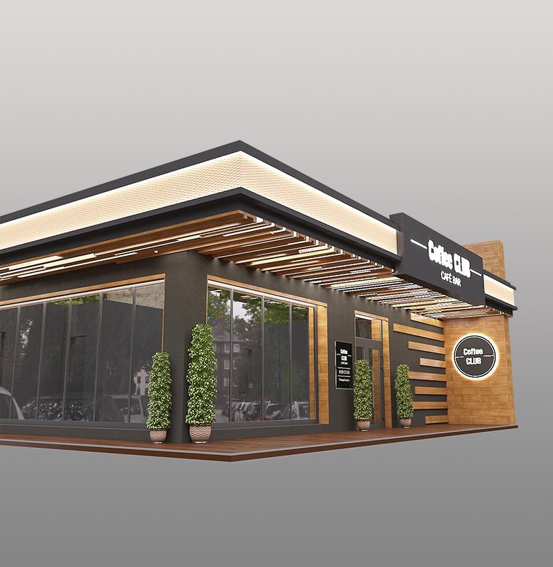 Брендирование фасада кофейни