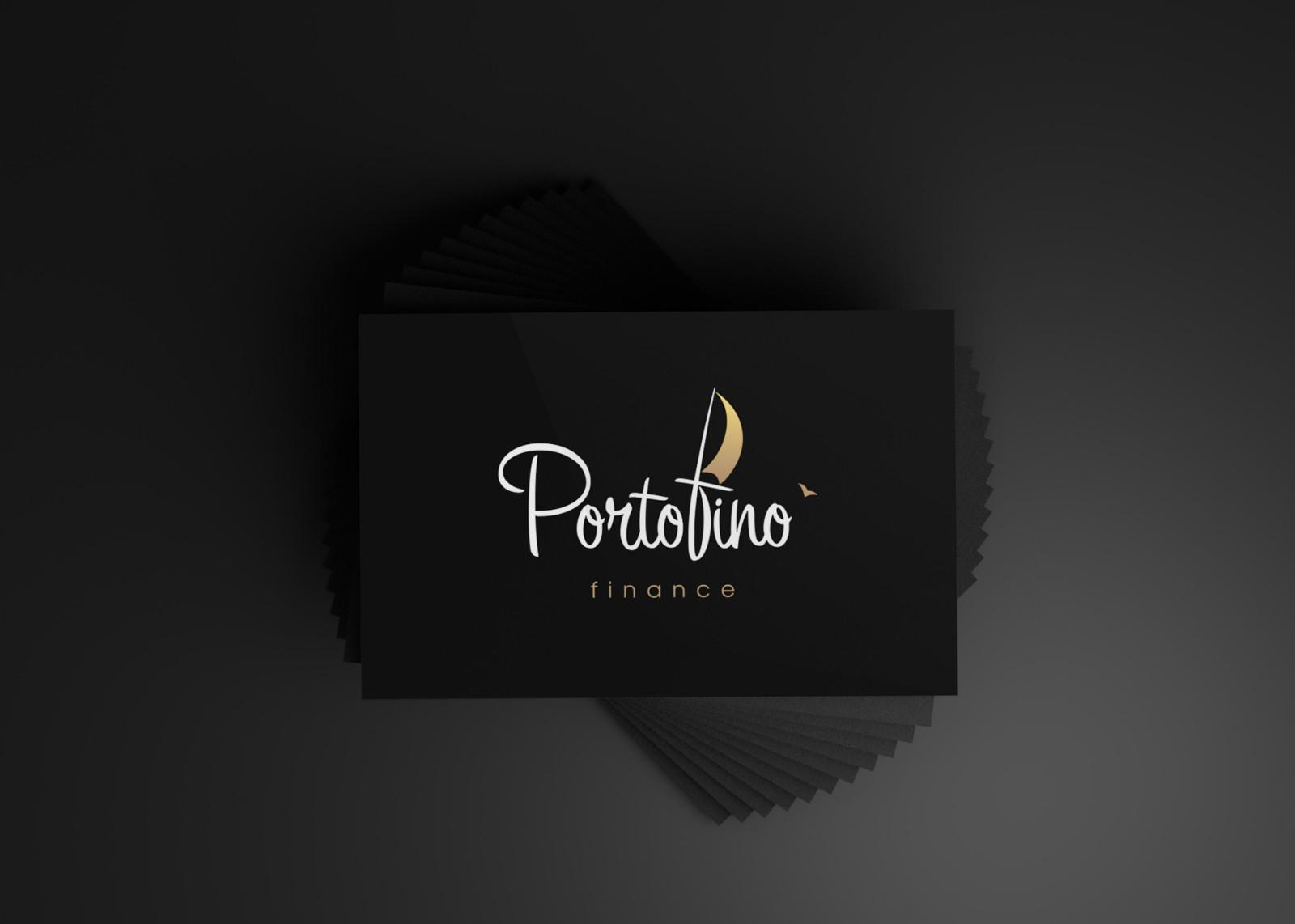 Визуализация логотипа Portofino на визитке