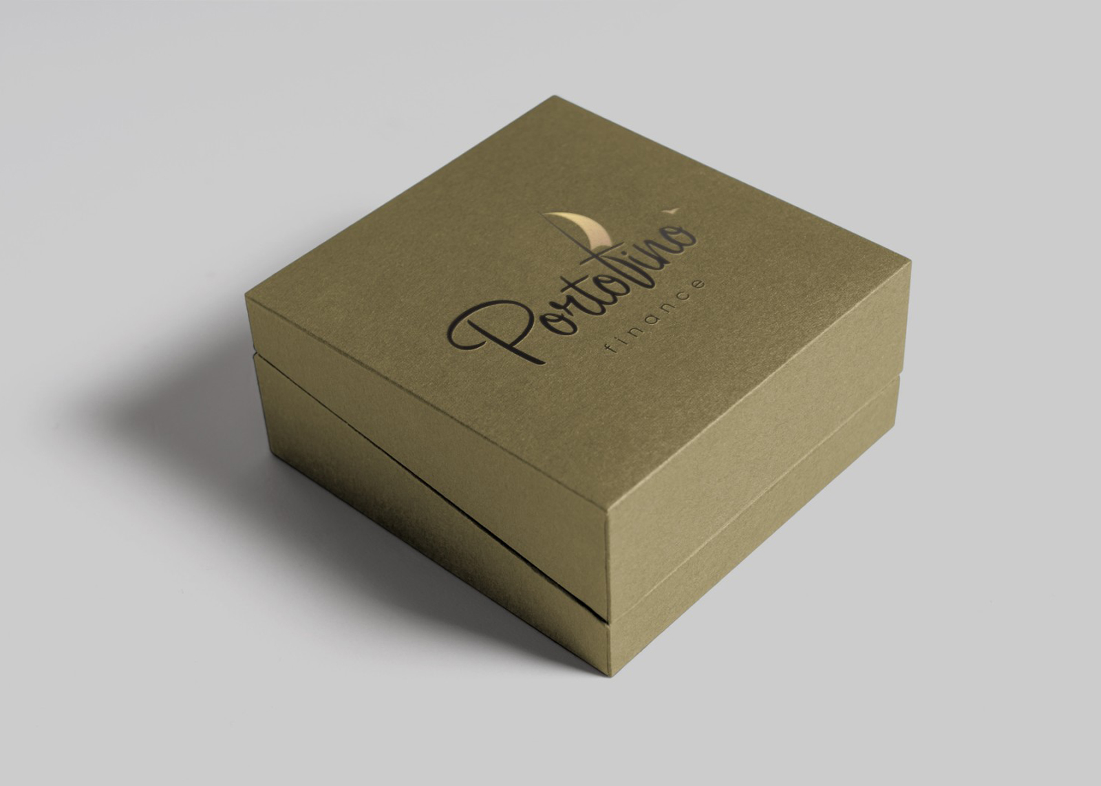 Визуализация логотипа Portafino на коробке