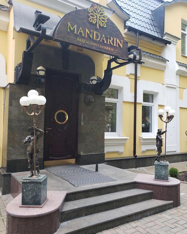 Фасадная вывеска для ресторана Мандарин