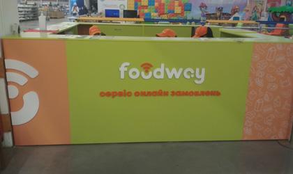 Брендирование стола для онлайн заказов FoodWay