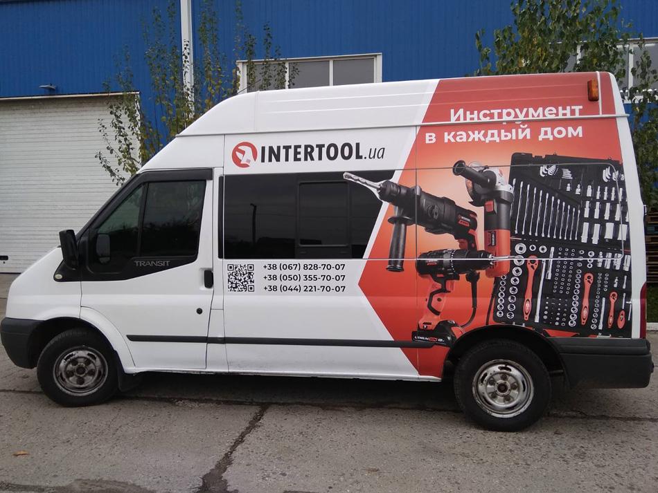 реклама на авто для Intertool