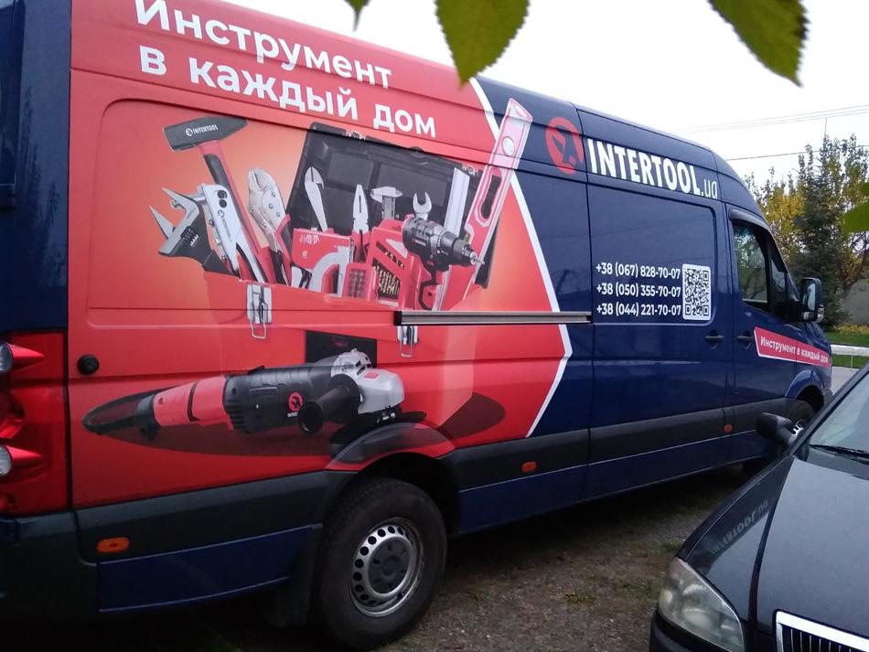 Оклейка форда для компании Интертул