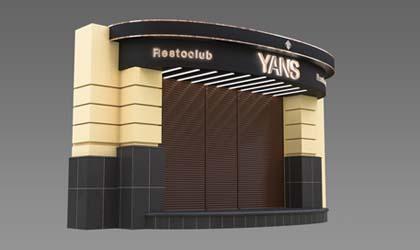 Световое оформление ресторана Yans