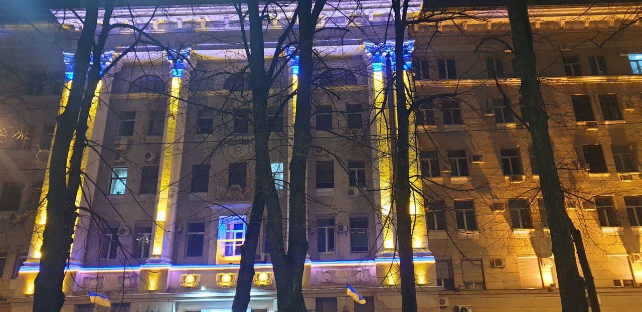 Наружное освещение фасада зданий