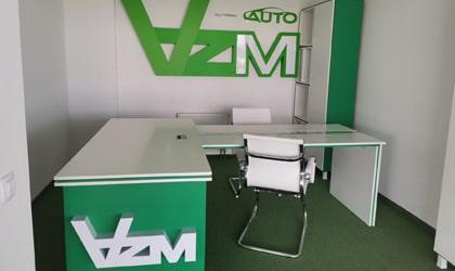 Изготовление логотипа на стену для компании AZM AUTO